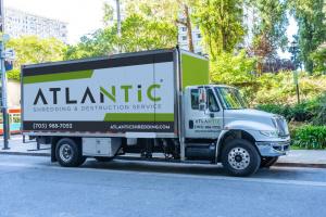 Atlantic Shredding truck servicing Maryland, northern Virginia and Washington, DC